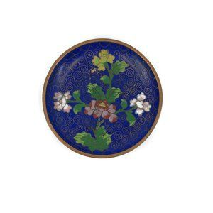 Chinese Cloisonne Ring Dish, Enameled Copper Dish,